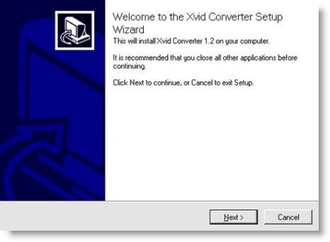 xvid converter setup wizard