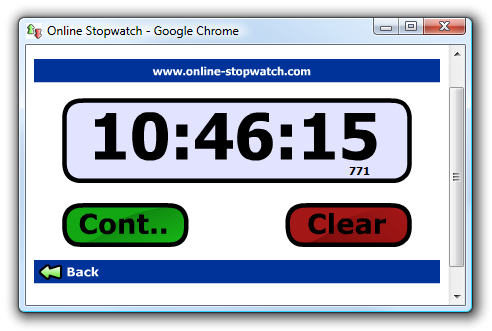 Using the Online Stopwatch as a Desktop Application