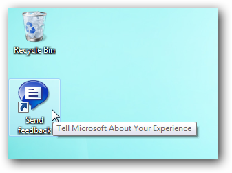 Windows 7 Send Feedback icon