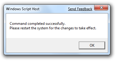 Windows 7 slmgr Success