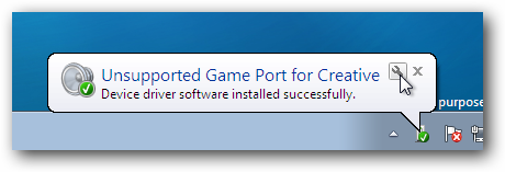 Windows 7 Device Driver Game Port Balloon