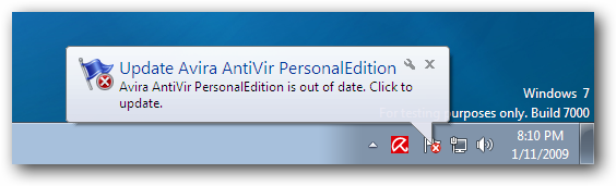 Windows 7 Update Avira AntiVir