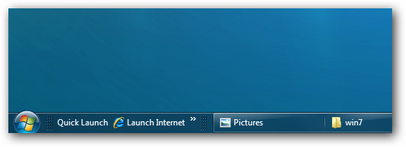 Windows 7 Quick Launch on Left