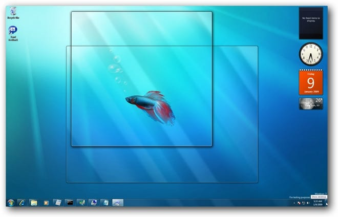 Windows 7 Aero Peek