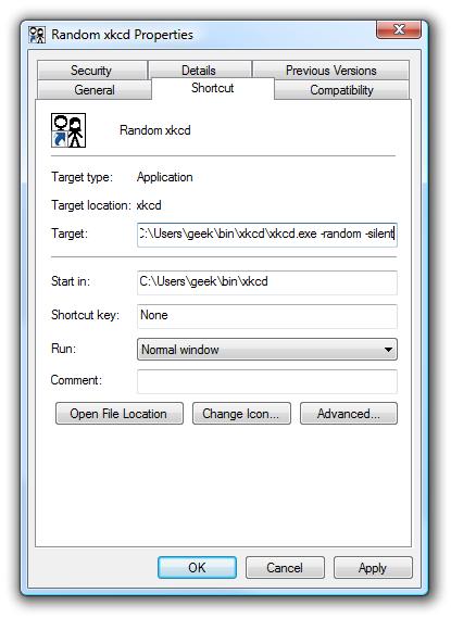 XKCD Shortcut Random Flag
