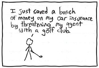 XKCD Geico Golf Club