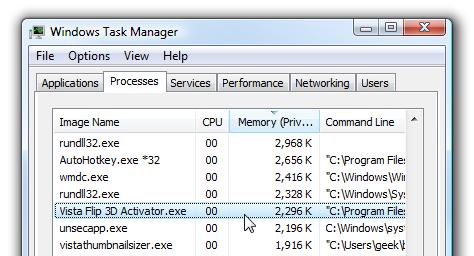 Task Manager Flip 3D Activator