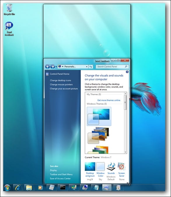 Windows 7 Window Docking to Screen