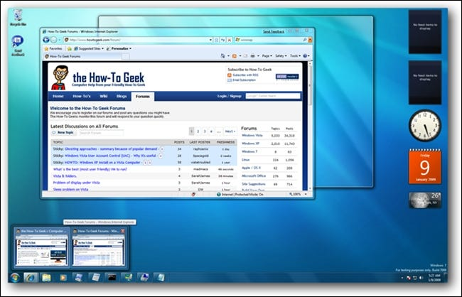 Windows 7 Hover Previews