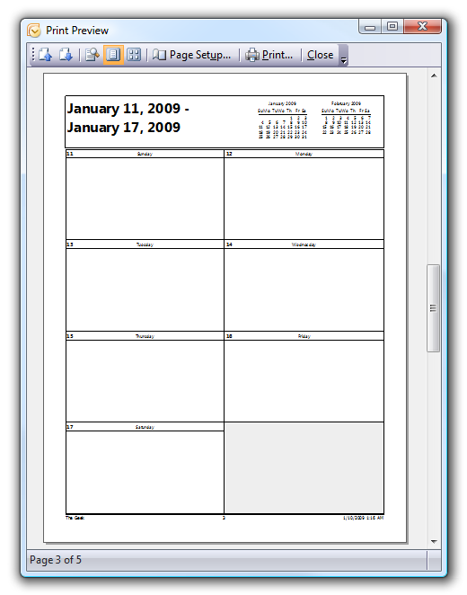 image relating to Printable Outlook Calendar titled How In the direction of Print Out Blank Calendars inside of Outlook 2007