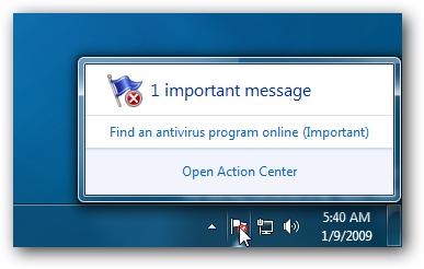 Windows 7 Action Center Icon