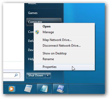 Windows 7 Right-Click Computer