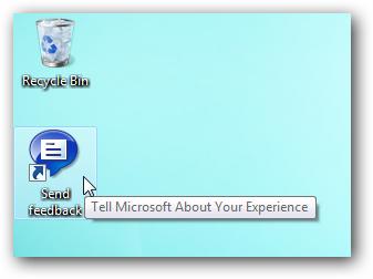 Windows 7 Send Feedback icon
