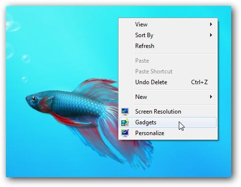 Windows 7 Desktop Context Menu