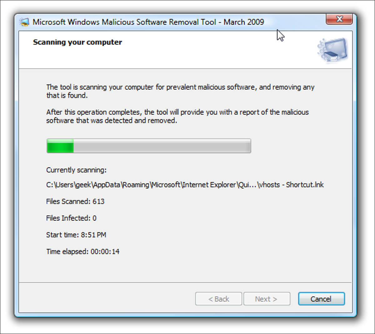 Malicious Software Removal