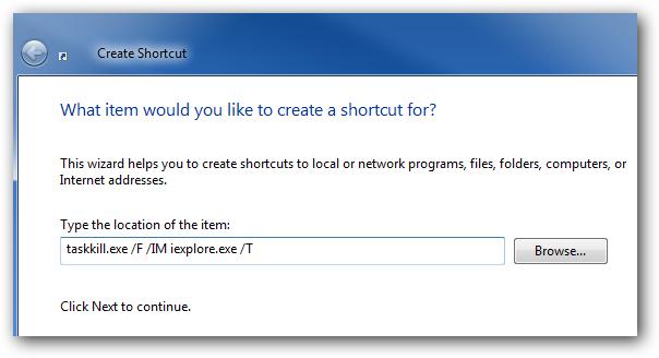 Create Shortcut Location
