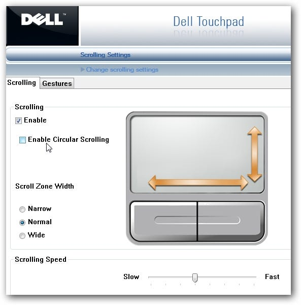 Fixing firefox scrolling problems with dell synaptics touchpad for Window scroll function