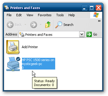 how to find shared printer