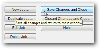 save changes and close