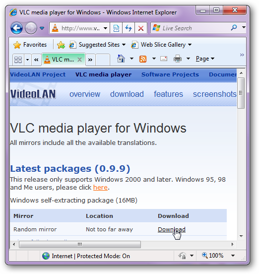 Play Real Media Audio Using VLC