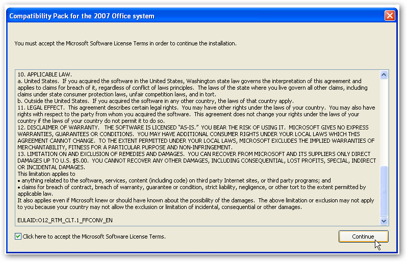Quick Tip: How To Open a  DOCX file in Word 2003
