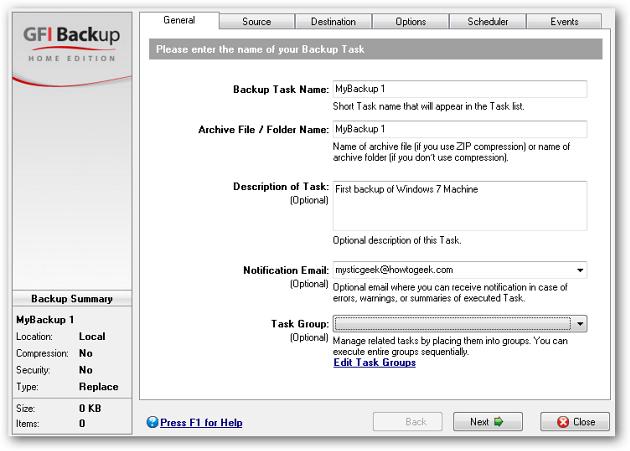 5 enter backup info