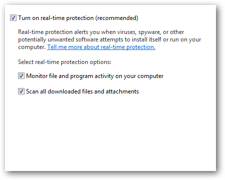 7 real time protection