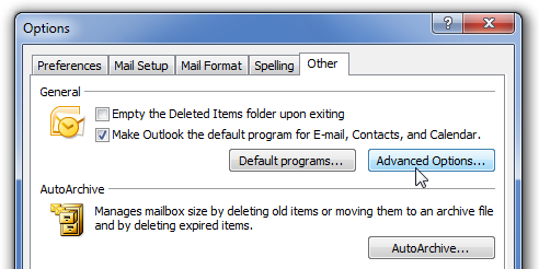 Make Outlook Stop Using Internet Explorer's RSS Feeds
