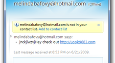 Stopping Obnoxious MSN / Windows Live Messenger Spammers