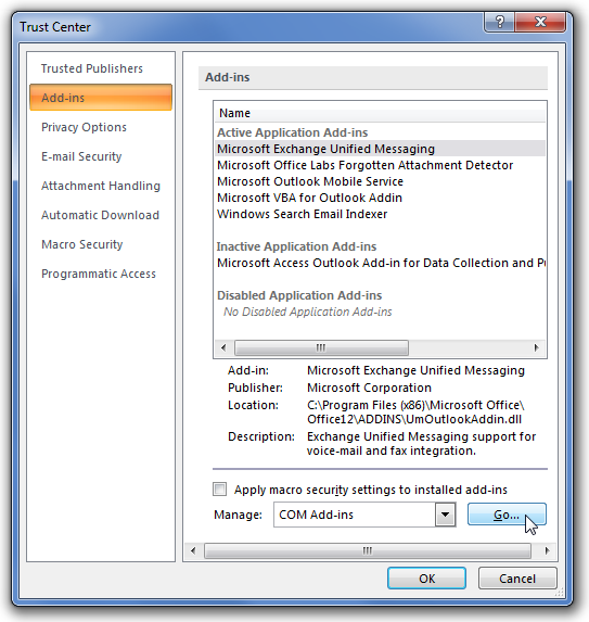 Make Outlook Faster by Disabling Unnecessary Add-Ins