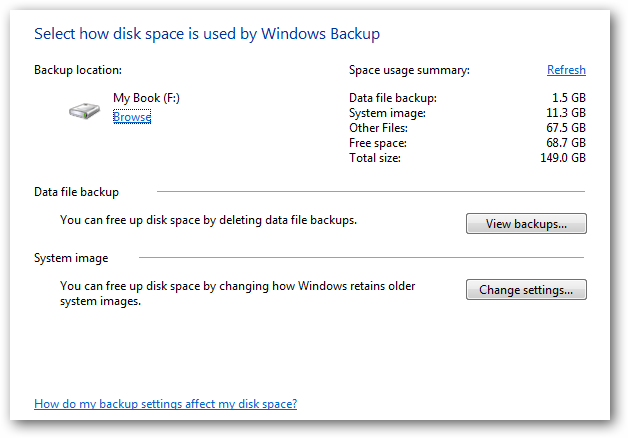 mgspace Windows 7: BackUp and Restore