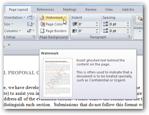 How To Add A Watermark Word 2007 Documents