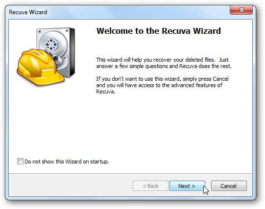 Cómo recuperar archivos con Recuva