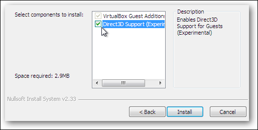5 install 3d support