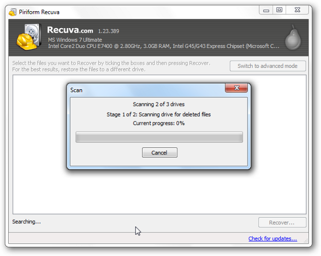 Restore Accidentally Deleted Files with Recuva