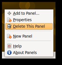 delete panel