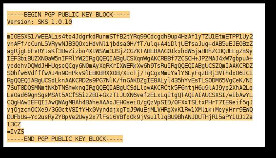 PGP public key AWN