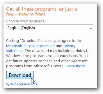 Install Windows Live Essentials In Windows 7