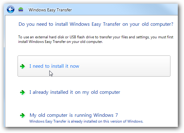 Migrate XP to Windows 7 with Easy Transfer and a USB Drive