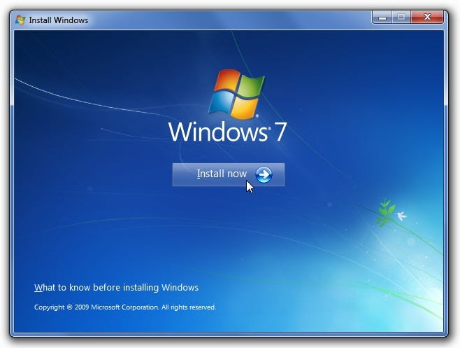 Windows 7 upgrade startup