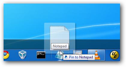 Pin to Notepad
