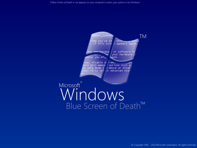 Windows Blue Screen of Death