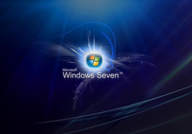 Windows Seven Blue