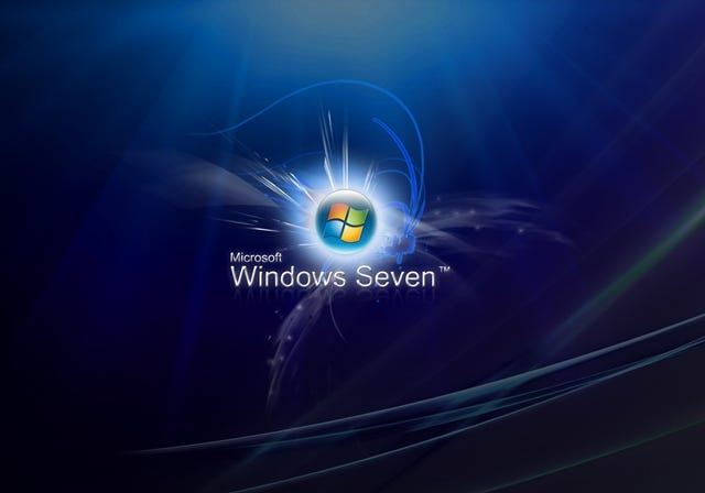 Windows Seven Blue