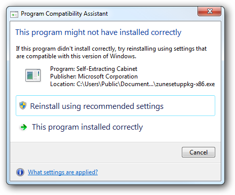 Disable Program Compatibility Assistant in Windows 7 and Vista