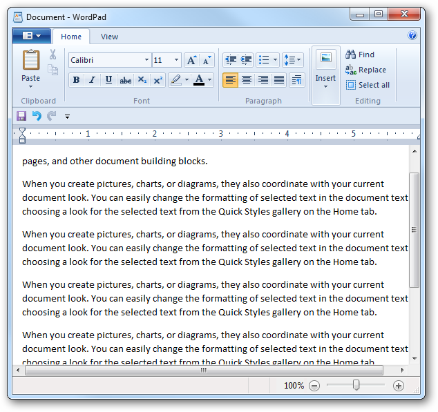 how to delete document in wordpad