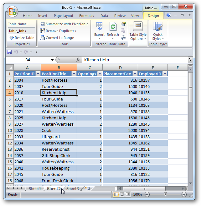 Import an Access Database into Excel