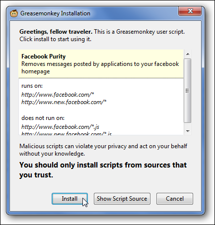 Install FB Purity