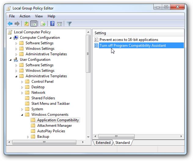 """I received the error """"Windows Program Compatibility mode ..."""