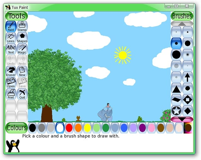 Tux paint a great image program for your children for Program like paint for mac